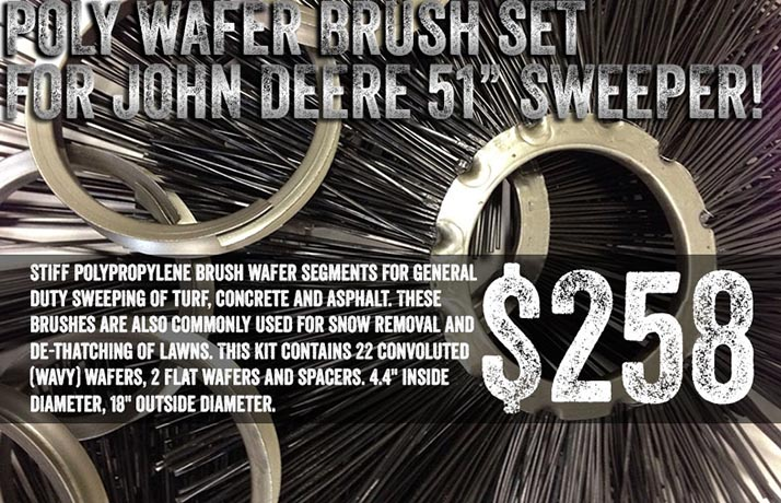 Poly Wafer Brush Set for John Deere